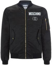 Moschino Smiley Face Logo Bomber Jacket - Lyst