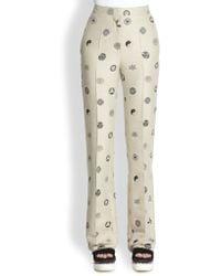 Stella McCartney Crest Jacquard Pants - Lyst