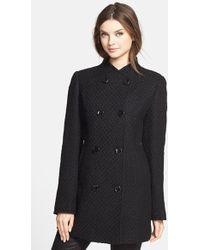 Ellen Tracy Women'S Double Breasted Textured Wool Blend Coat - Lyst