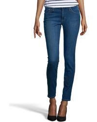 James Jeans Medium Blue Wash Stretch Denim 'Louiseville' Skinny Jeans - Lyst
