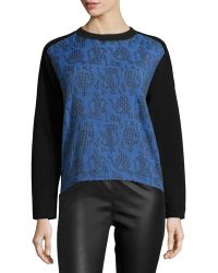 Risto - Printed-front Two-tone Sweatshirt - Lyst