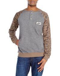 Wesc Embroidered Raglan Sweatshirt - Lyst
