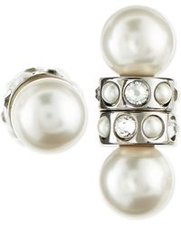 Givenchy Magnetic Faux Pearl  Crystal Earrings - Lyst
