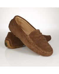 Lauren by Ralph Lauren Suede Christie Penny Loafer - Lyst