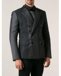 Dolce & Gabbana Tonal Pinstriped Jacket - Lyst