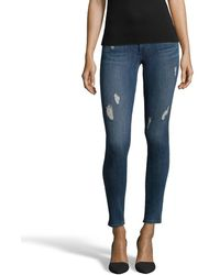 James Jeans | Adrenaline Stretch Denim 'high Class' Distressed Skinny Jeans | Lyst