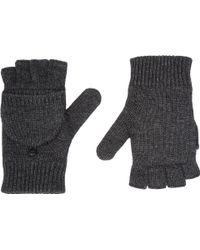 Barneys New York Fleece-lined Fingerless Gloves - Lyst