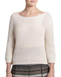 Weekend by Maxmara Tapioca Cropped Sweater - Lyst