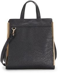 Saks Fifth Avenue Bushwick Faux-Leather Satchel/Black - Lyst