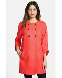 Ted Baker Double-Breasted Wool-Blend Coat - Lyst