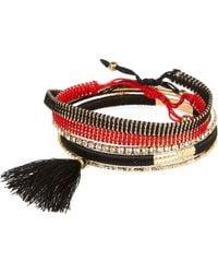 River Island Mixed Woven Tassel Bracelet Pack red - Lyst