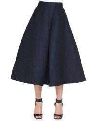 Monique Lhuillier Jacquard Long A-Line Skirt - Lyst