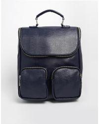 Asos Contrast Boysy Backpack blue - Lyst