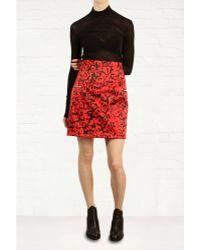Preen Atomic Printed Satin Skirt - Lyst