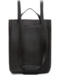 CHIYOME - Black Pebbled Leather Backpack - Lyst