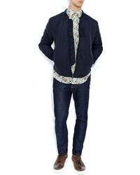 Liberty - Green Queue For The Zoo Cotton Shirt - Lyst