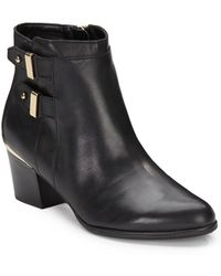 Isaac Mizrahi Justice Leather Ankle Boots - Lyst