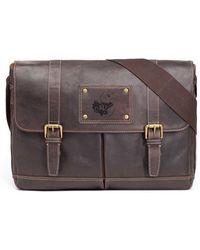 Jack Mason Brand - 'gridiron - Kansas Jayhawks' Leather Messenger Bag - Lyst