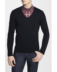 Burberry Brit 'Dockley' V-Neck Wool Sweater - Lyst