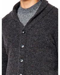 Esk - Shetland Wool Cardigan - Lyst