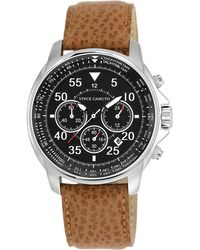 Vince Camuto - Men'S Chronograph Tan Luggage Leather Strap Watch 44Mm Vc/1070Bksv - Lyst