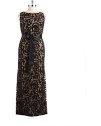 Adrianna Papell Plus Floral Gown - Lyst