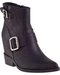 Jeffrey Campbell Wenda Ankle Boot Black Leather - Lyst