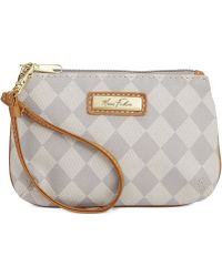 Marc Fisher Gray Checkmate Wristlet - Lyst