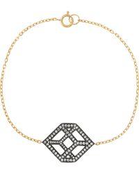Noor Fares - Cube 18-karat Gold Diamond Bracelet - Lyst