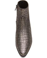 Saint Laurent Wyatt Embossed Crocodile Boots - Lyst