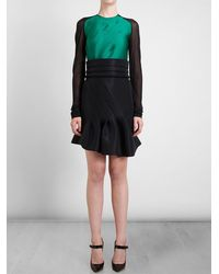 Antonio Berardi Contrast Panel Dress with Sash - Lyst