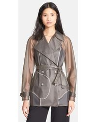 Theory Women'S 'Turin' Short Trench Coat - Lyst