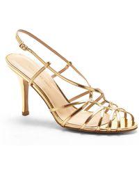 Carmen Marc Valvo - Gold Noelle Sandals - Lyst