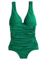 J.Crew D-cup Ruched Femme Tank green - Lyst