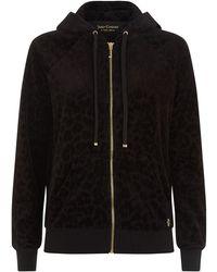 Juicy Couture Leopard Flock Hoodie - Lyst