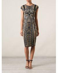 Roberto Cavalli Printed Midi Dress - Lyst