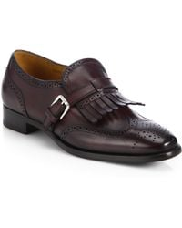 Ralph Lauren Collection Galessa Leather Kiltie Loafers - Lyst