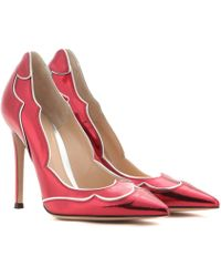 Gianvito Rossi Sparkle Leather Pumps - Lyst