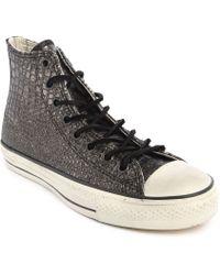 Converse John Varvatos High-top Metallic Silver Leather - Lyst