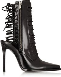 Haider Ackermann Laceup Leather Boots - Lyst