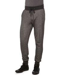Vince Melange Drawstring Sweatpants - Lyst