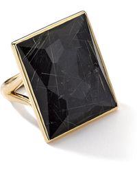 Ippolita - 18k Gold Gelato Medium Baguette Ring In Quartz/hematite - Lyst
