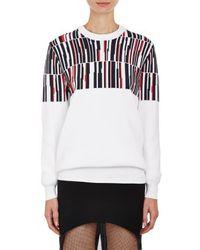Edun Abstract Geo Jacquard Crewneck Sweater - Lyst