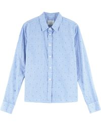 Band of Outsiders Cannes Crop Dot Shirt - Lyst