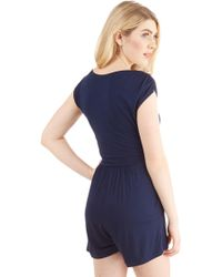 Gilli - Hopscotch Into Style Romper In Navy - Lyst