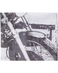 Topshop Biker Motif Scarf - Lyst