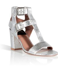 Laurence Dacade Leather T-Strap Sandals - Lyst