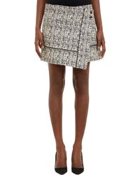 Proenza Schouler Tweed Wrap Mini Skirt - Lyst