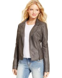 American Rag - Fauxleather Quilted Moto Jacket - Lyst