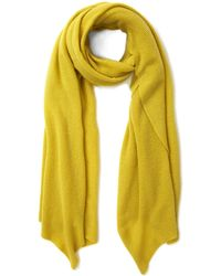 CASH CA - Lime Cashmere Pashmina Scarf - Lyst